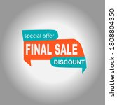 final sale banner  discount tag ... | Shutterstock .eps vector #1808804350