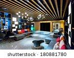 modern living room interior  | Shutterstock . vector #180881780