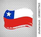 Flag Of Chile  Brush Stroke...