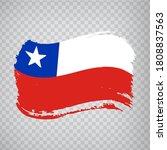 Flag Of Chile  Brush Stroke...