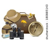 vector safari accessories... | Shutterstock .eps vector #180885143