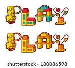 Word Play. Letters Made Of Toys - stock vector
