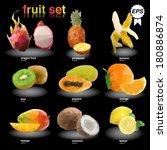 triangle polygonal fruit... | Shutterstock .eps vector #180886874