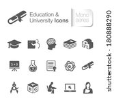 education related icons.  | Shutterstock .eps vector #180888290