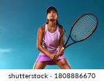 Tennis player. beautiful girl...