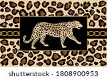 decorative leopard pattern with ...   Shutterstock .eps vector #1808900953