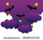 happy halloween banner  with... | Shutterstock .eps vector #1808910769