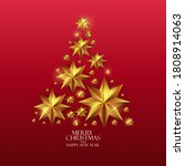 holiday new year and merry... | Shutterstock . vector #1808914063