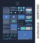 ui flat design elements  modern ... | Shutterstock .eps vector #180892583