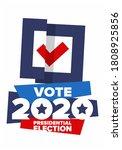presidential election 2020 in...   Shutterstock .eps vector #1808925856