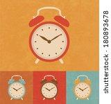 retro icons   classic alarm... | Shutterstock .eps vector #180893678