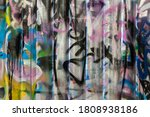 close up view of graffiti on... | Shutterstock . vector #1808938186
