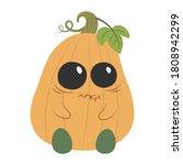 halloween pumpkin monster... | Shutterstock .eps vector #1808942299