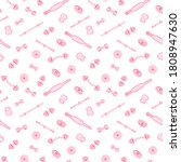 seamless pattern with sport... | Shutterstock .eps vector #1808947630