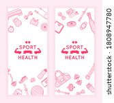 sport fitness banners. ad flyer ...