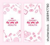 sport fitness banners. ad flyer ... | Shutterstock .eps vector #1808947780