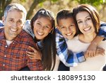 portrait of hispanic family in... | Shutterstock . vector #180895130