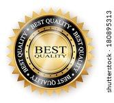 golden icon quality white... | Shutterstock . vector #180895313