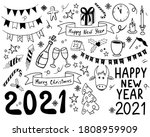 outline hand drawn doodle set... | Shutterstock .eps vector #1808959909