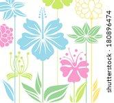 tropical flower bed | Shutterstock .eps vector #180896474