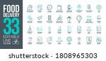 icons set online order and food ... | Shutterstock .eps vector #1808965303