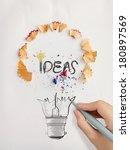 Hand Drawn Light Bulb Word...