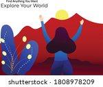 women enjoy holiday on the...   Shutterstock .eps vector #1808978209