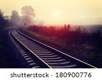 railroad track during autumn... | Shutterstock . vector #180900776