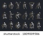 male fitness collection.... | Shutterstock .eps vector #1809009586