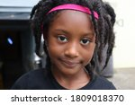 Cute Young Black Girl Wearing...