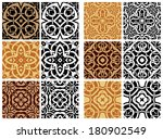 big set elements for seamless... | Shutterstock .eps vector #180902549