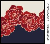 Silk Scarf Pattern With Flower...