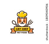 Cat Chef Logo With Chef Hat ...