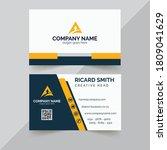 creative business card design...   Shutterstock .eps vector #1809041629