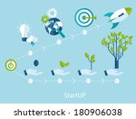 vector growth and startup... | Shutterstock .eps vector #180906038