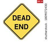Dead End Road Sign. Vector...