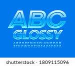vector glossy alphabet letters... | Shutterstock .eps vector #1809115096