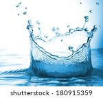 bubbles and splashes of fresh... | Shutterstock . vector #180915359