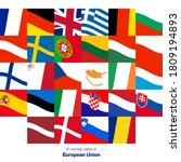 27 flags of member states...   Shutterstock .eps vector #1809194893