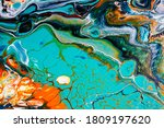 Colorful Ink Water. Marble...