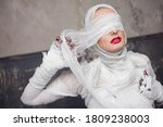 Glamorous mummy. portrait of a...
