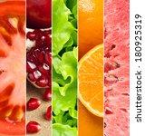 healthy food background.... | Shutterstock . vector #180925319