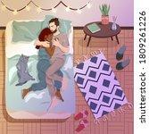 young interracial couple...   Shutterstock .eps vector #1809261226