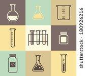 chemical tubes icons set.... | Shutterstock .eps vector #180926216
