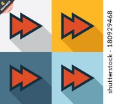 arrow sign icon. next button.... | Shutterstock . vector #180929468