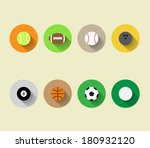 set of vector sport ball icons...