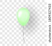 green balloon 3d  thread ... | Shutterstock .eps vector #1809327433