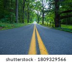Low Angle Shot Of A Road In...