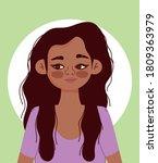young woman hispanic character... | Shutterstock .eps vector #1809363979
