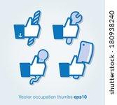 vector profession thumbs | Shutterstock .eps vector #180938240